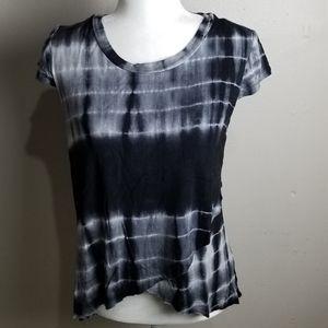 Hem & thread  tie dye short sleeves top si…